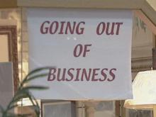The going out of business sign has become a common sight.