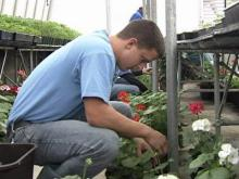 Students learn about gardening