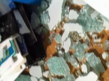 Glass furniture can explode suddenly