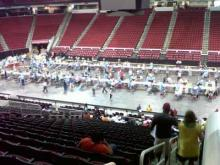 Hundreds of people received free dental treatment at a clinic held at the RBC Center in Raleigh on Aug. 12, 2011.