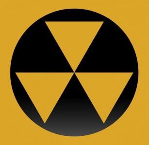 Fallout shelter warning sign.