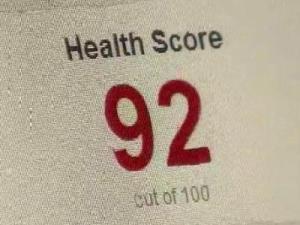 Health score on Yelp