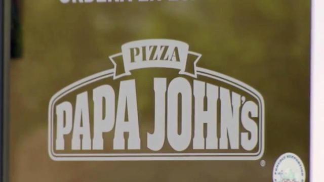 Papa John's dough spotted sitting outside