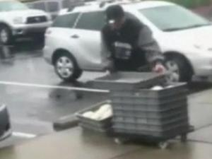A viewer shared video of Papa John's dough stored outside and transported in an employee's car.