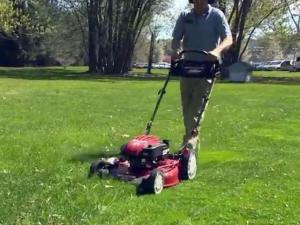 Lawn mower, mowing