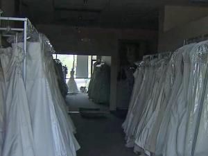 Brides with orders at La Belle Mariee arrived to find the shop locked and their dresses out of reach.