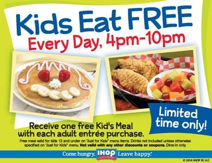 IHOP Kids Eat FREE!