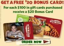 Outback bonus gift card promotion
