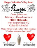 Chick-fil-A Valentine's Day at North Hills in Raleigh