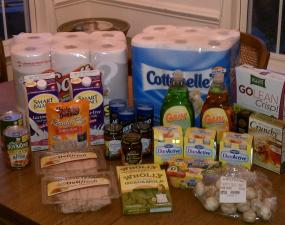 Faye's shopping for the day: $93.94 for $6.60!