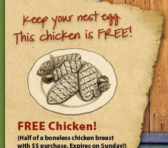 Earth Fare free chicken