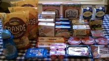 Here are all the products I purchased for only 85 cents during the Harris Teeter Super Doubles promo on 6/22/11.  The total before sales and coupons was $85.43 so I saved 99%!