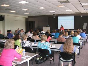 Faye teaching a class
