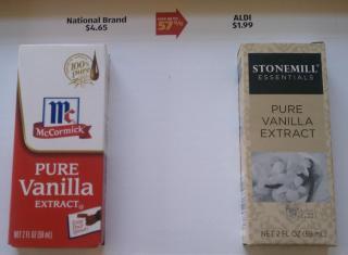 ALDI Vanilla Comparison