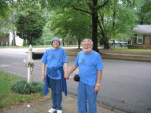 My parents, Marian and David, 2008, Ovarian Cancer Walk