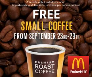 McDonald's free coffee