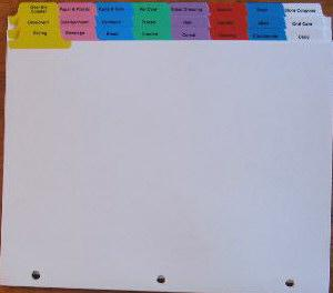 Tabbed dividers