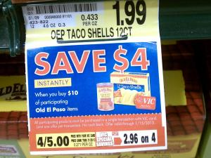 Old El Paso Harris Teeter deal