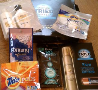 P&G samples and coupons