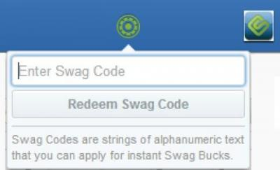 Swagbucks code entry box