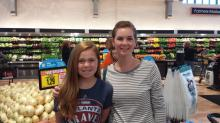 Smart Shopper Corbin and her daughter!