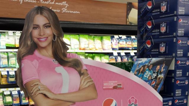 Pepsi coupon display