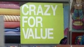 Crazy for Value sign Black Friday