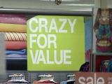Crazy for Value sign Black Friday