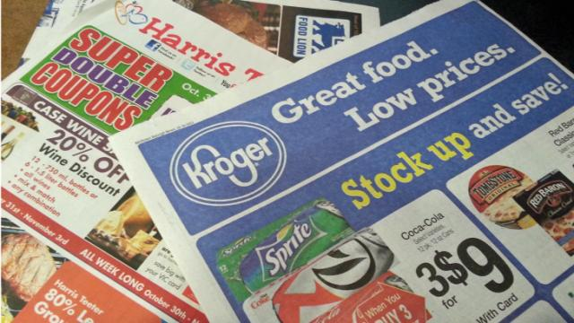 Coupons, circulars, newspaper inserts