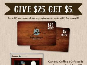 Caribou Coffee Card