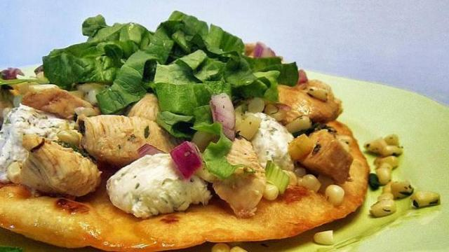 Chicken Tostadas with Corn Salsa and Go-To Marinade