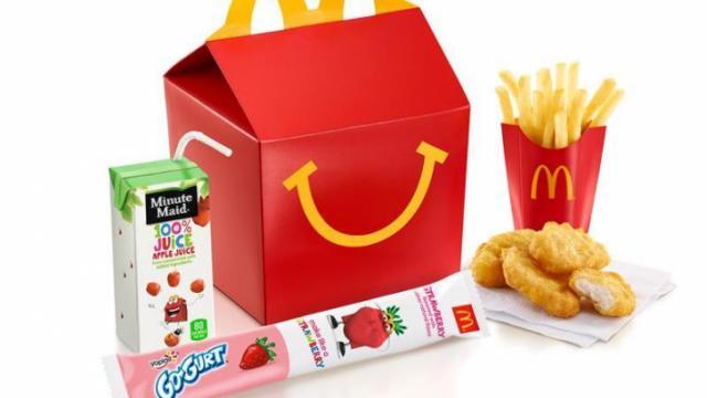McDonald's Happy Meal with Go-Gurt