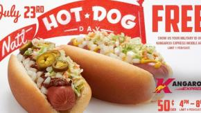 Kangaroo Free Hot Dog Day