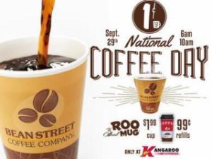 National Coffee Day at Kangaroo Express