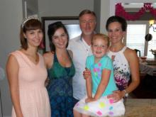 The Dixon Family: (left to right) Alex Dixon (daughter), Victoria Dixon (daughter), Wade Dixon, Karis Christopher (daughter) and Dana Stephenson (wife)