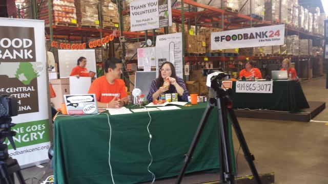 Host Greg Ng and Faye at the 2015 Food Bank Telethon