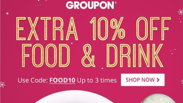 Groupon 10% off