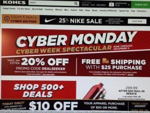 Kohl's Cyber Monday
