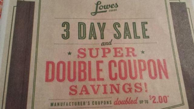 Lowes Foods Super Doubles