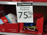 Walmart 70% off Christmas clearance