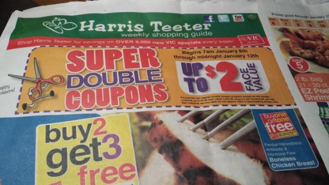 Harris Teeter Super Doubles ad