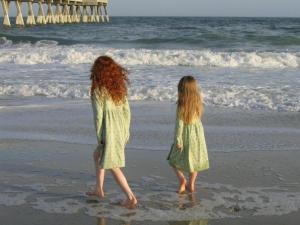 My girls at the beach during Spring Break many years ago