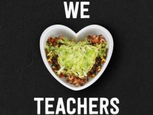 Chipotle Teacher Appreciation Day 2016