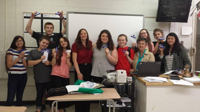 Garner High School couponing students