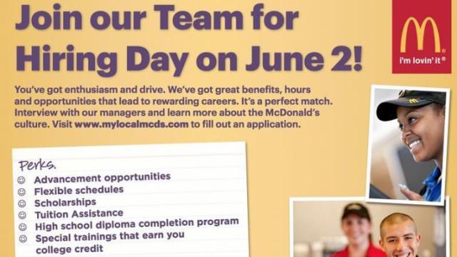 McDonald's Hiring Day, June 2, 2016