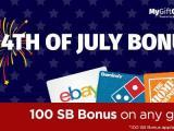 MyGiftCardsPlus July 4th Bonus