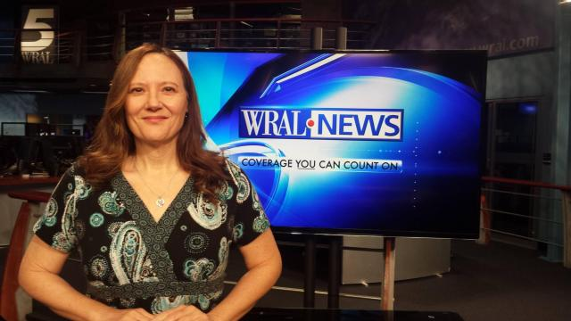 At WRAL for a morning segment