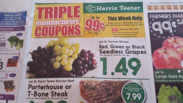 Harris Teeter Triple Coupons Ad
