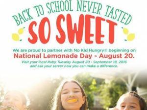 Ruby Tuesday National Lemonade Day