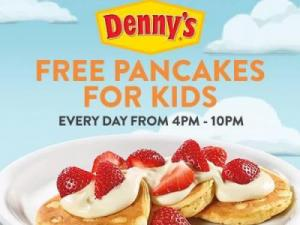 Denny's Free Pancakes for Kids (photo via Denny's Facebook page)